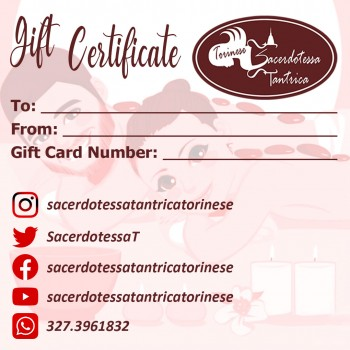 gift certificate tantra massage